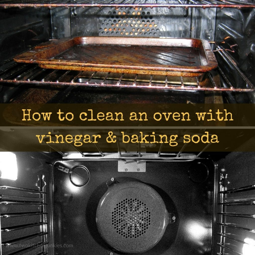 How to clean and oven with vinegar & baking soda