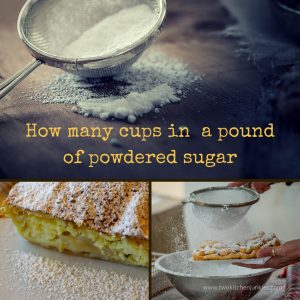 How Many Cups In A Pound Of Powdered Sugar