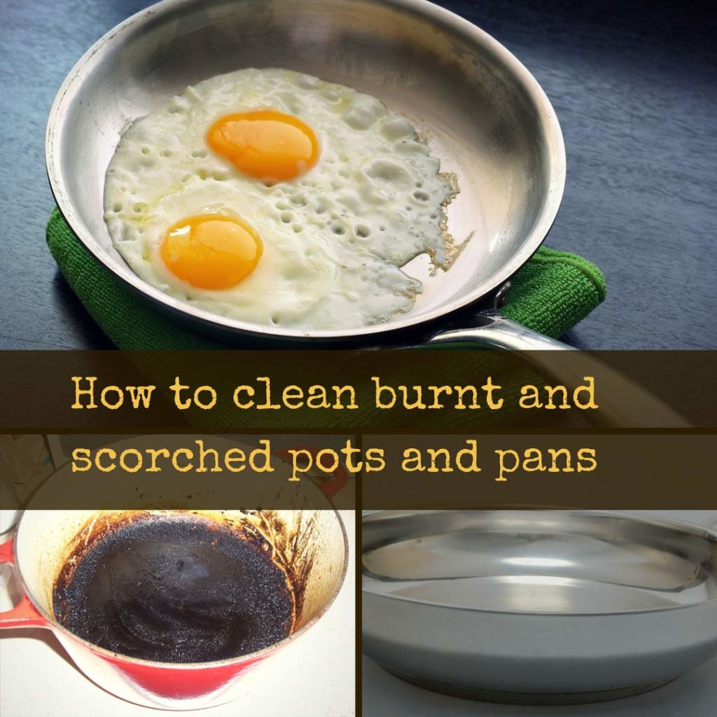How To Clean Burnt Pots Pans Using Vinegar Baking Soda