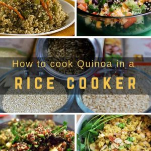 How to cook quinoa in a rice cooker?