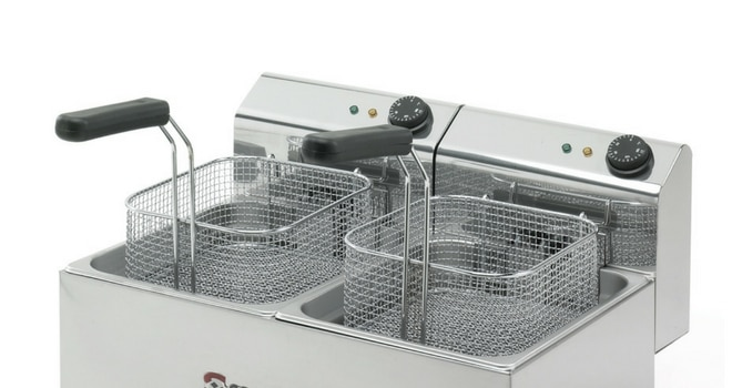 cleaning a commercial deep fryer