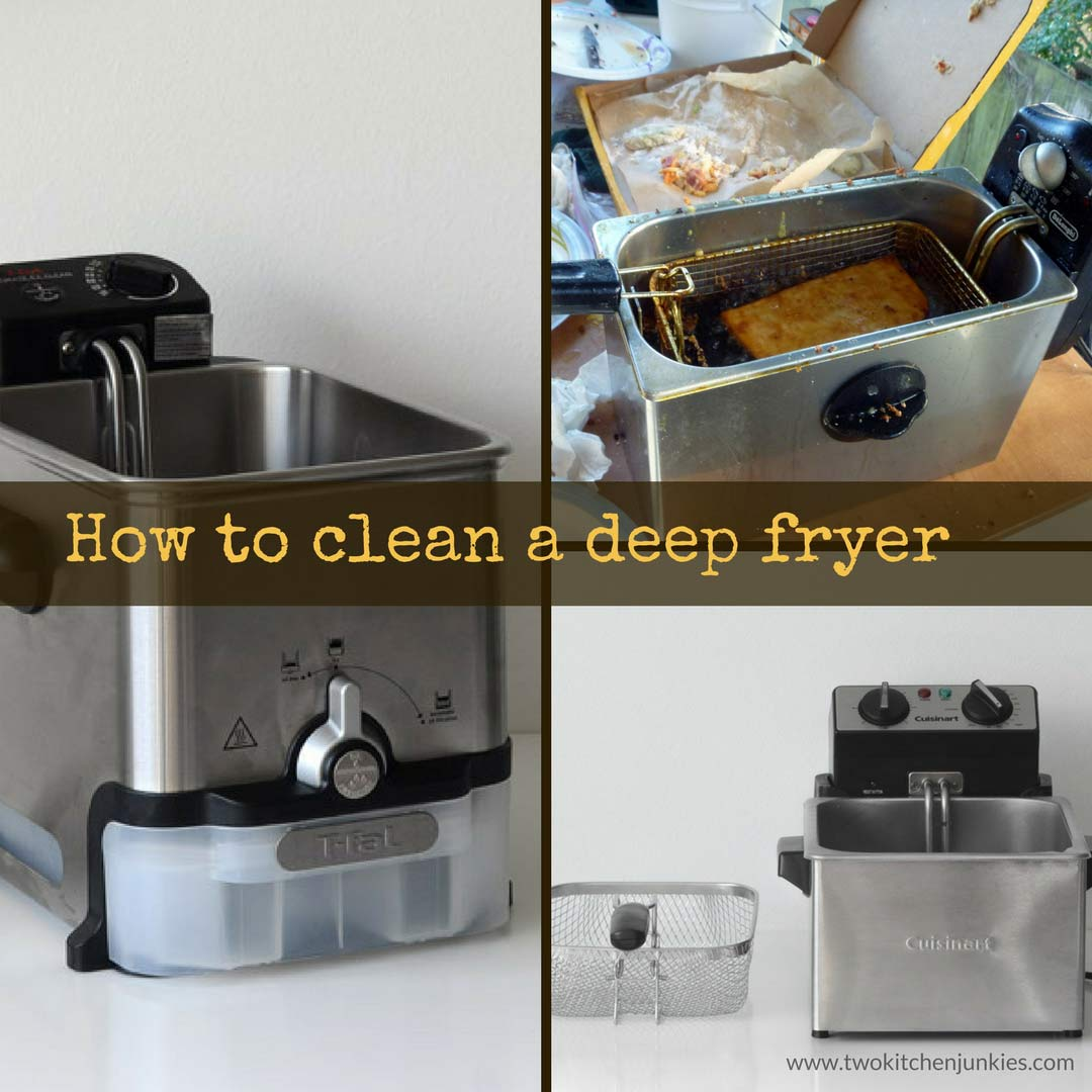 how to clean a deep fryer