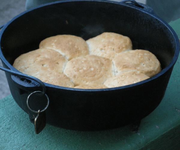 making bread in a dutch oven