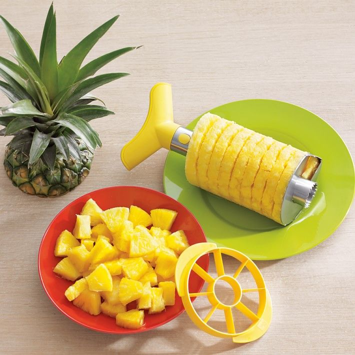stainless steel pineapple slicer dicer